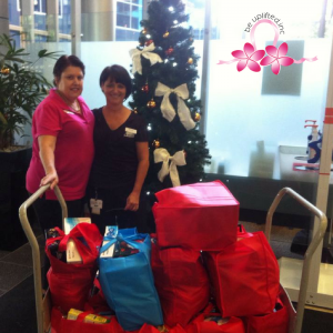 Christmas Hamper deliveries for breast cancer patients at North West Hospital
