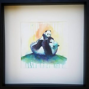 Framed watercolour artwork from Di Cox